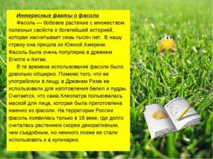 Интересные факты о фасоли Фасоль — бобовое растение с множеством полезных сво