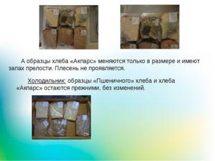 Холодильник: образцы «Пшеничного» хлеба и хлеба «Акпарс» остаются прежними,