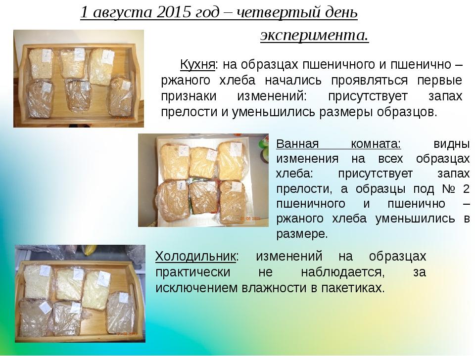 1 августа 2015 год – четвертый деньэксперимента. Холодильник: изме...