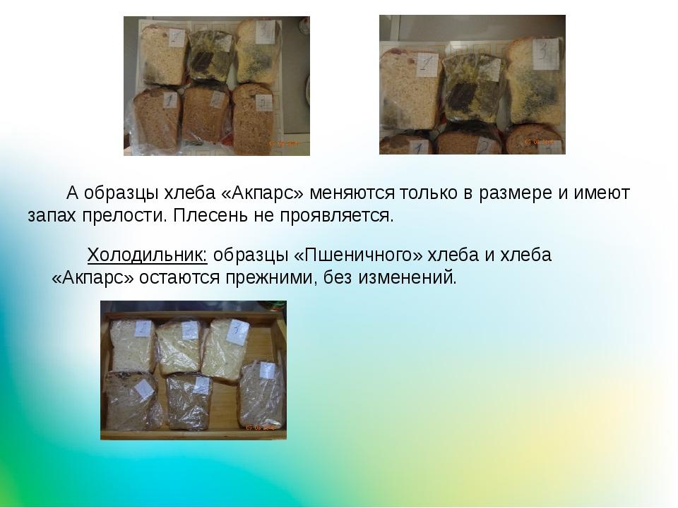 Холодильник: образцы «Пшеничного» хлеба и хлеба «Акпарс» остаются прежними,...