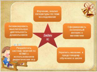 Задачи: Активизировать мыслительную деятельность дошкольников Изучение, анали