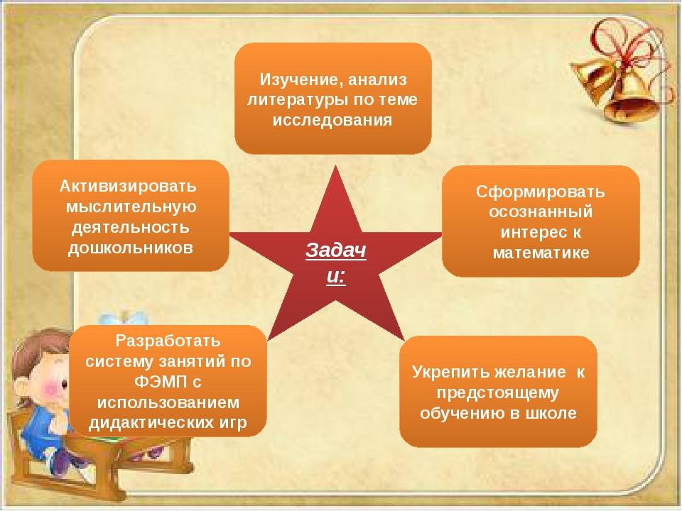Задачи: Активизировать мыслительную деятельность дошкольников Изучение, анали...