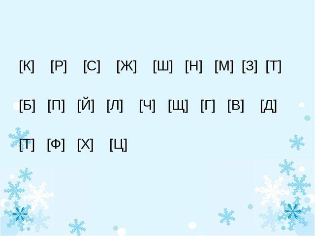 [К] [Р] [С] [Ж] [Ш] [Н] [М] [З] [Т] [Б] [П] [Й] [Л] [Ч] [Щ] [Г] [В] [Д] [Т]...