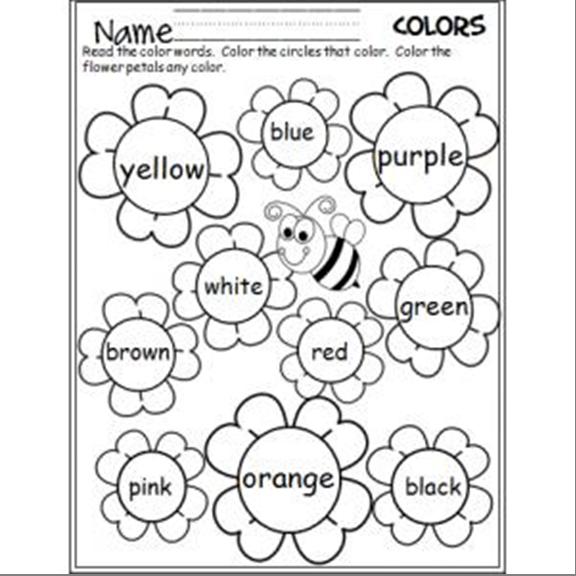 Цвета на английском языке для детей раскраска