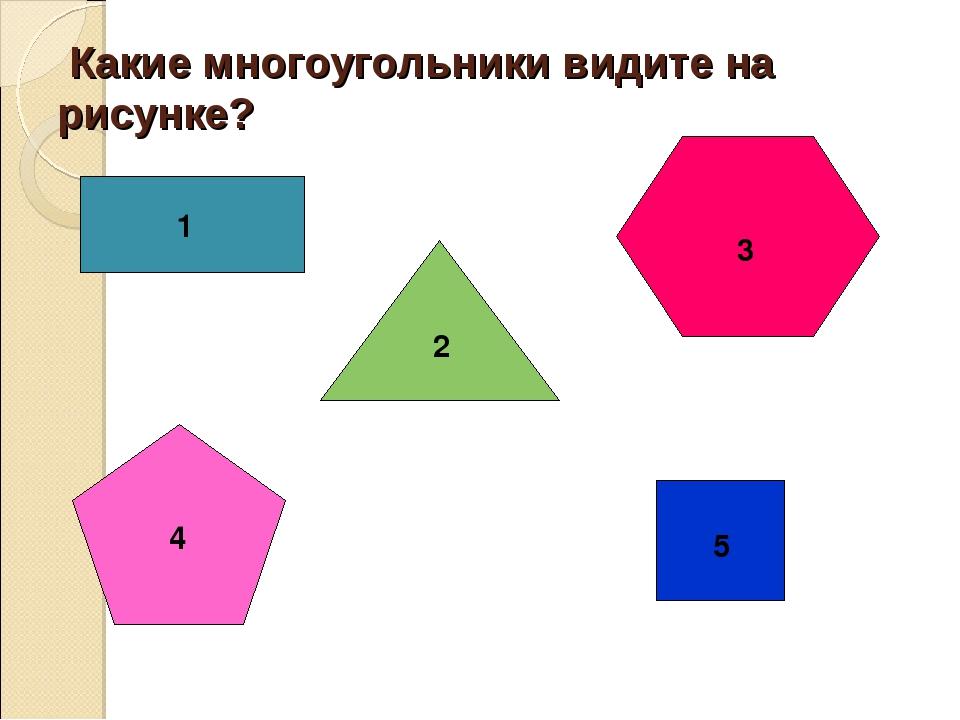 Какие многоугольники видите на рисунке? 1 2 3 4 5