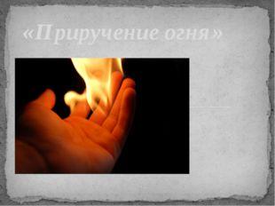 «Приручение огня»