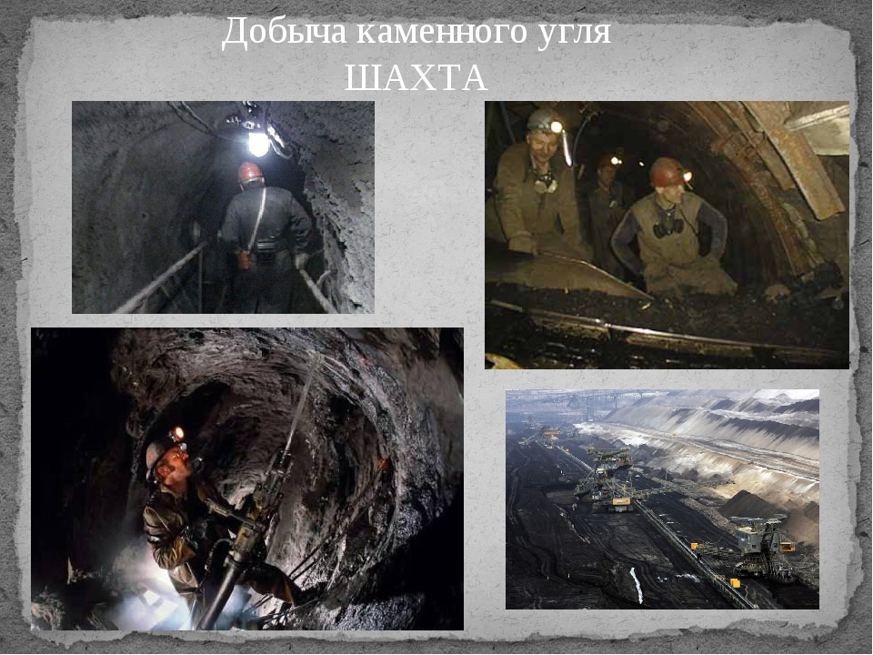 Добыча каменного угля ШАХТА