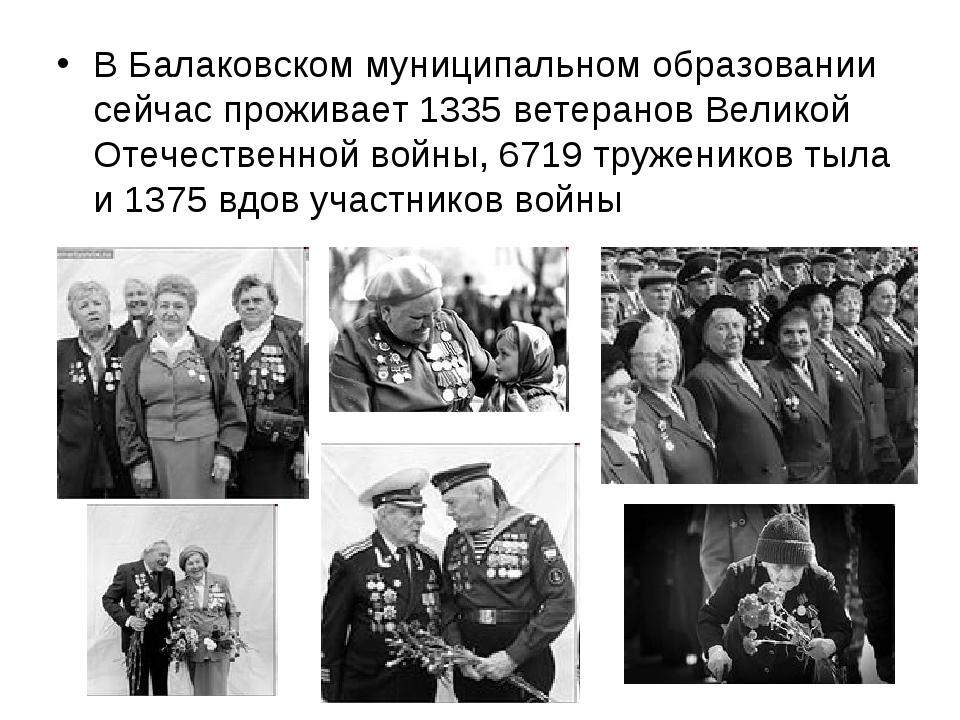 В Балаковском муниципальном образовании сейчас проживает 1335 ветеранов Велик...