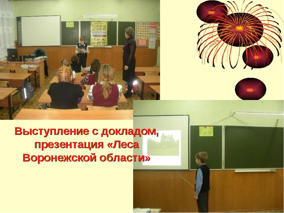 Выступление с докладом, презентация «Леса Воронежской области»