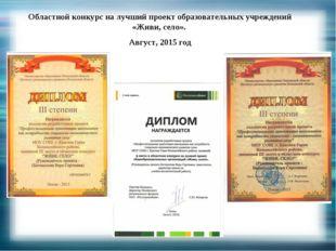 Областной конкурс на лучший проект образовательных учреждений «Живи, село». А