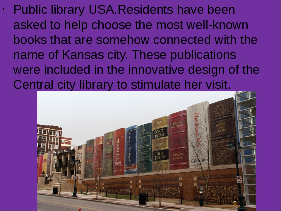 Public library USA.Residents have been asked to help choose the most well-kno...