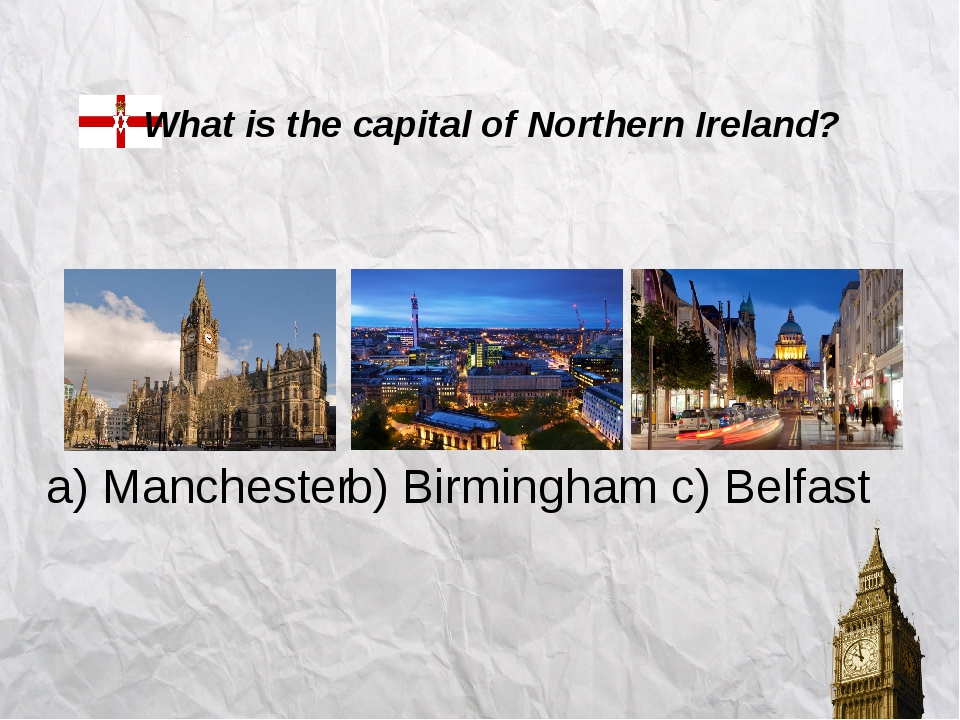a) Cardiff b) Nottingham c) Bristol What is the capital of Wales?