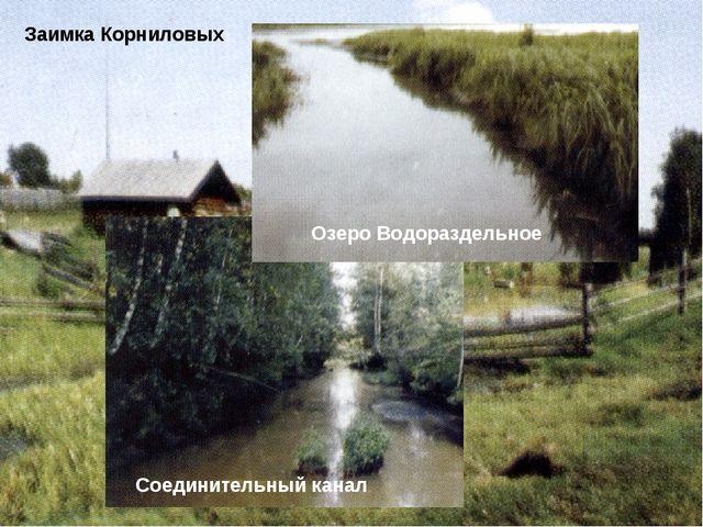 Заимка Корниловых Соединительный канал Озеро Водораздельное