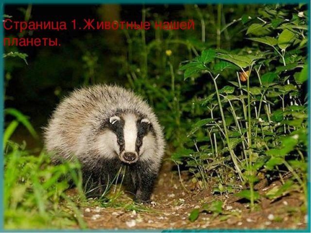 Страница 1.Животные нашей планеты.