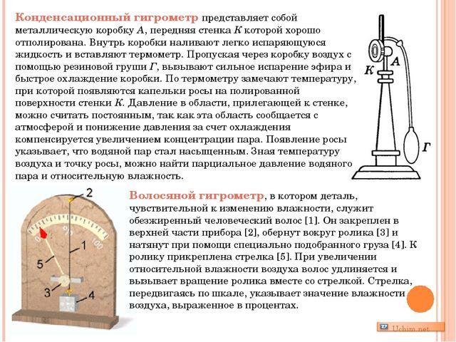 Конденсационный гигрометр представляет собой металлическую коробку А, передня...