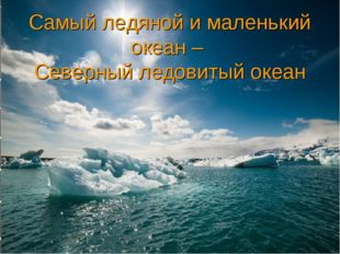 Самый ледяной и маленький океан – Северный ледовитый океан
