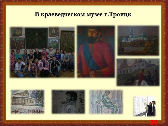 В краеведческом музее г.Троицк *