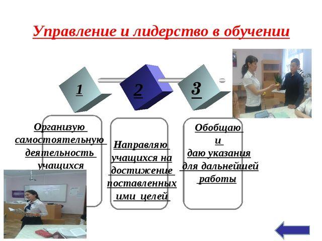 Управление и лидерство в обучении 1 2 3 TEXT Организую самостоятельную деятел...
