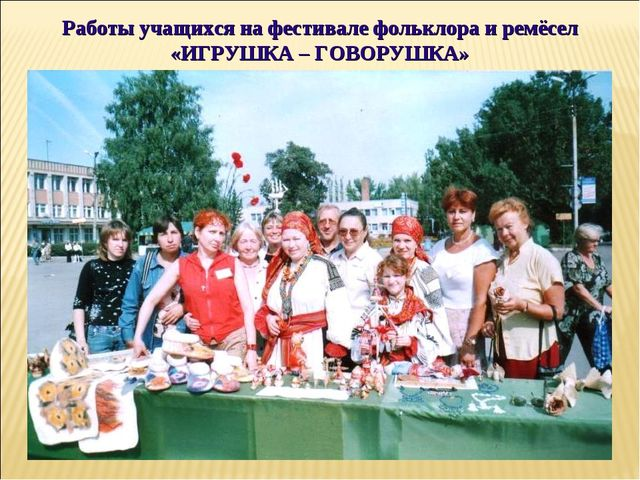 Работы учащихся на фестивале фольклора и ремёсел «ИГРУШКА – ГОВОРУШКА»