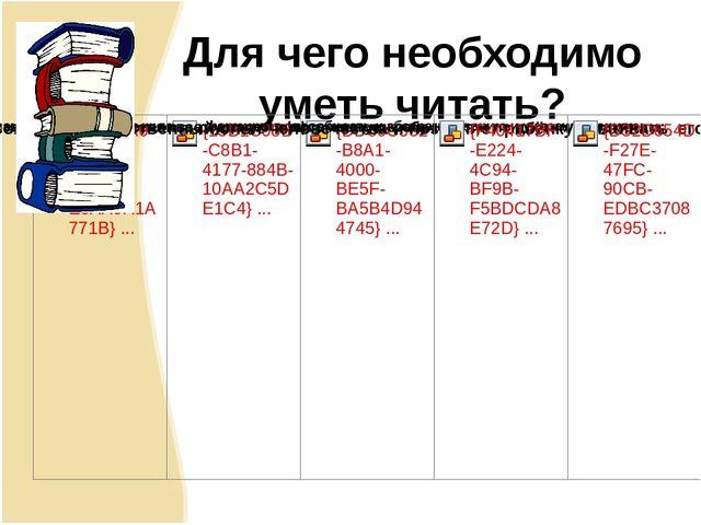 Для чего необходимо уметь читать?