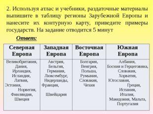3. Определите по контуру какое государство изображено. На задание отводится 2