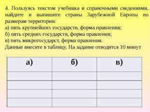 Ответ: а) б) в) Финляндия Литва Андорра княжество Испании Чехия Ватикан теокр