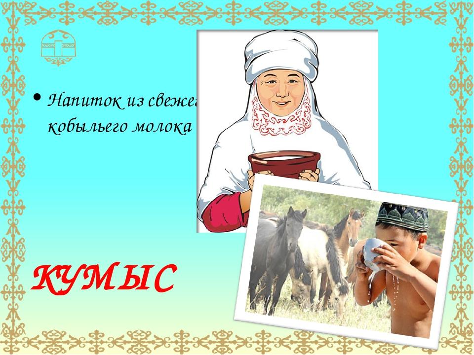 Напиток из свежего кобыльего молока КУМЫС