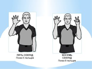 ПЯТЬ СЕКУНД Показ 5 пальцев ВОСЕМЬ СЕКУНД Показ 8 пальцев