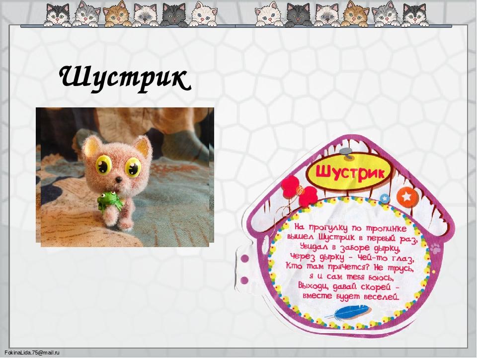 Шустрик FokinaLida.75@mail.ru