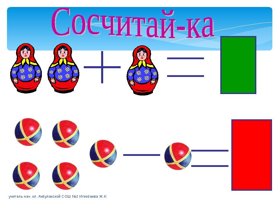 3 4 учитель нач. кл. Акбулакской СОШ №2 Игизбаева Ж.К. учитель нач. кл. Акбул...
