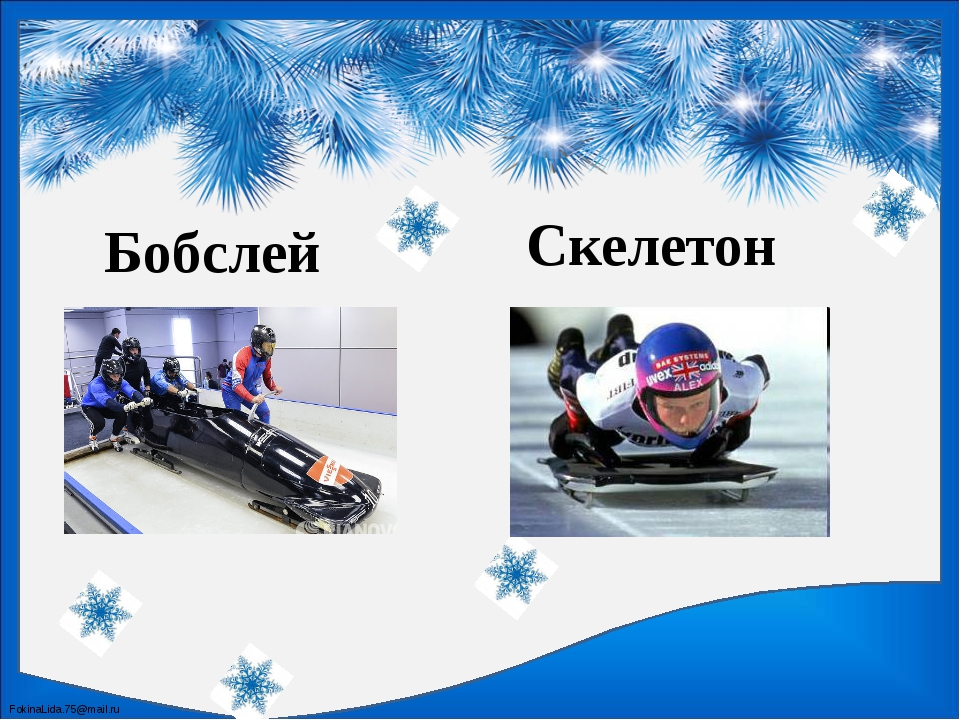 Бобслей Скелетон FokinaLida.75@mail.ru