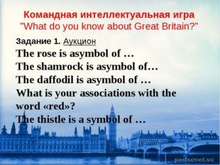 "Командная интеллектуальная игра ""What do you know about Great Britain?"" Задан"