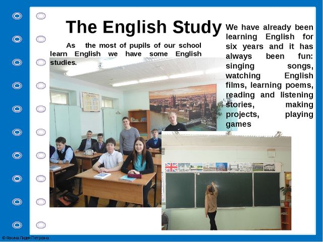 We have already been learning English for six years and it has always been fu...