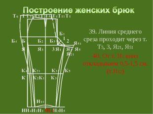 39. Линия среднего среза проходит через т. Т5, 3, Я21, Я51 40. От т. Н1 вниз