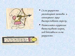 Сила упругости растянутой тетивы и изогнутого лука выстреливают стрелу. Разжи