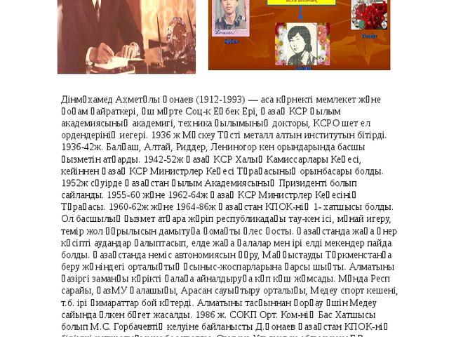 4 Дінмұхамед Ахметұлы Қонаев (1912-1993) — аса көрнекті мемлекет және қоғам қ...