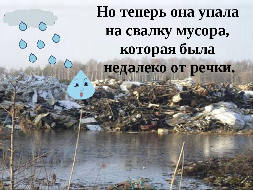 Но теперь она упала на свалку мусора, которая была недалеко от речки.