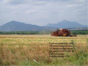 Урок географии по теме «Полезные ископаемые Ставропольского края» в 8 классе