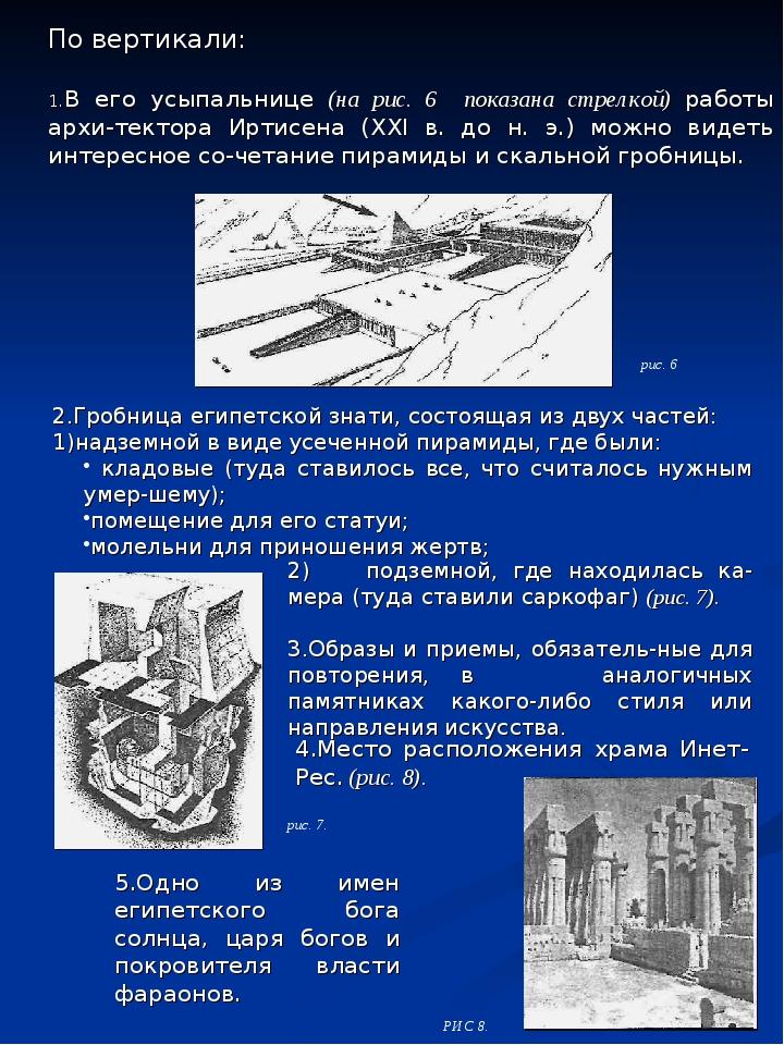2)подземной, где находилась камера (туда ставили саркофаг) (рис. 7). 3.Обр...