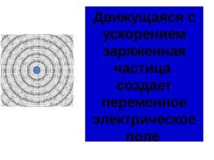 Движущаяся с ускорением заряженная частица создает переменное электрическое п
