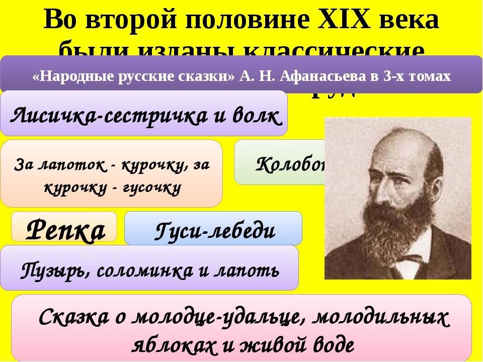 Во второй половине XIX века были изданы классические фольклорные труды «Народ...