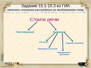 Задание 15.1-15.3 из ГИА написать сочинение-рассуждение на предложенную тему