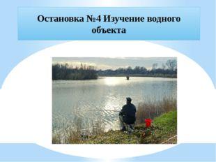 Остановка №4 Изучение водного объекта