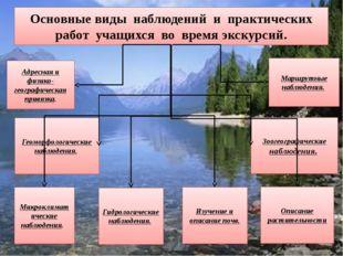 Основные виды наблюдений и практических работ учащихся во время экскурсий. Ад