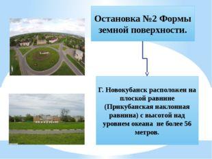Остановка №2 Формы земной поверхности. Г. Новокубанск расположен на плоской р