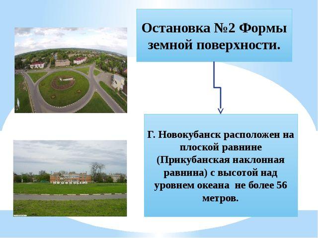 Остановка №2 Формы земной поверхности. Г. Новокубанск расположен на плоской р...
