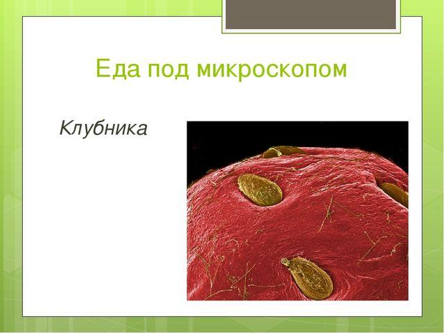 Еда под микроскопом Клубника