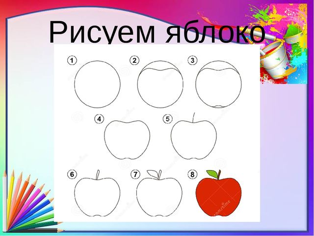 Рисуем яблоко