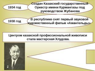 Центром казахской профессиональной живописи стала мастерская Хлудова. Одним и