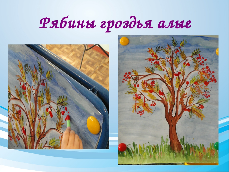 Рябины гроздья алые